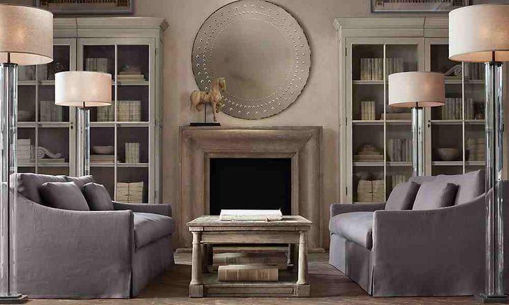 restoration hardware living room our home pinterest