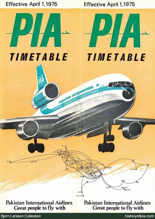 PIA Timetable