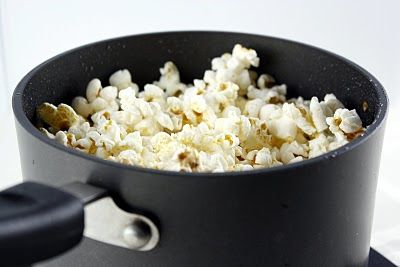This makes perfect popcorn. One bite of this popcorn and you will never use microwave popcorn again.