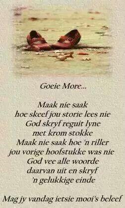 God skryf reguit lyne met krom stokke...Hy skryf 'n gelukkige einde (Alles ten goede) #Afrikaans
