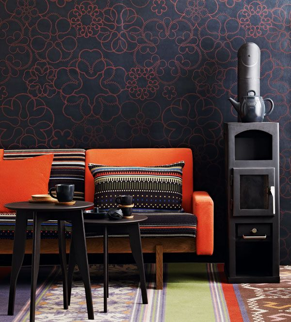 Great Colours Deep Navy And Burnt Orange Find This Pin More On Interior Design Styling By Lschachet Ethnic Style In The Living Room