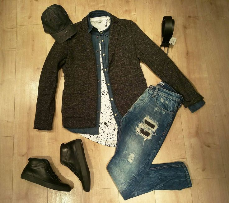 Sweat blazer and ripped jeans!