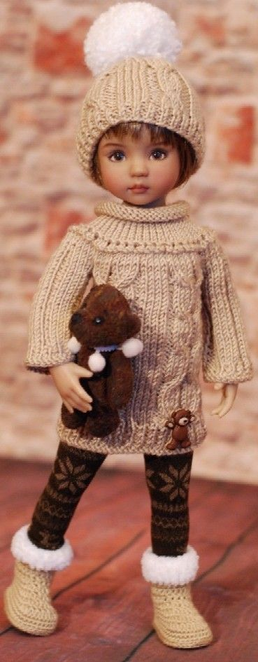 Knitting inspiration for doll clothes