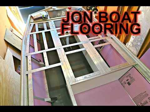 cheap and lightweight Boat floor for our jon boat - YouTube