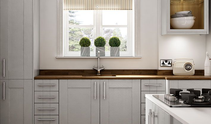 Milton Grey Kitchen and under cabinet lighting  Wickes.co.uk