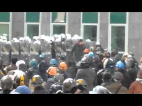 Policja strzela do górników. Protest pod JSW 09.02.2015