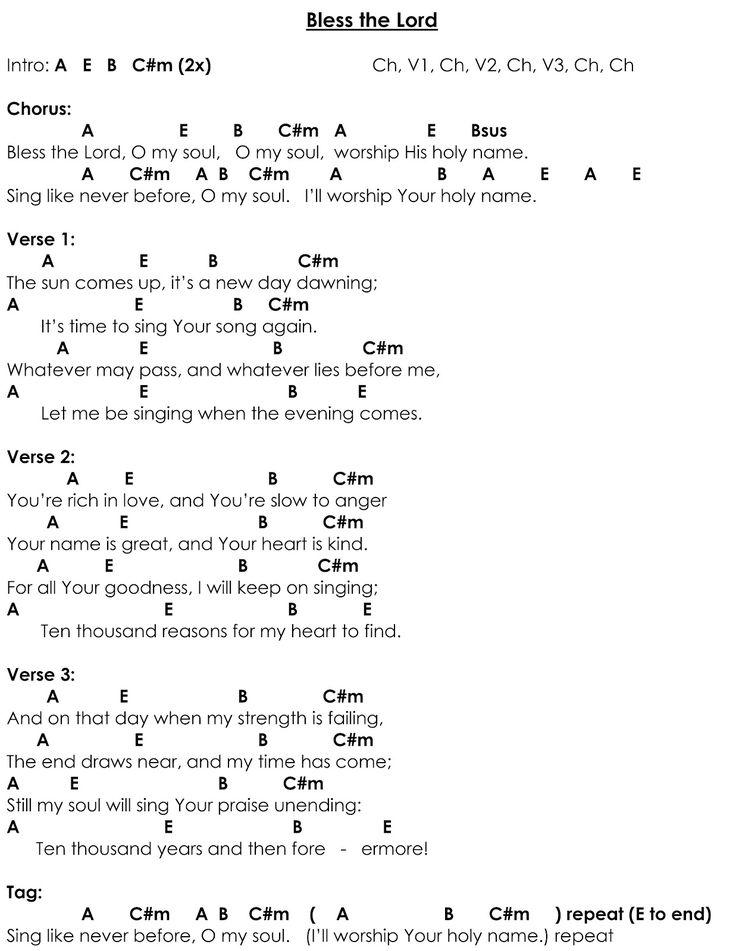10000 reasons chord chart