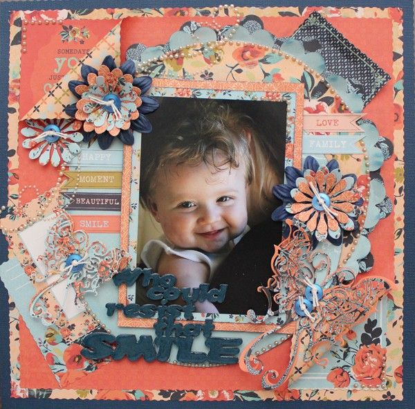 Who Could Resist that Smile - single page layout from Paper Roses Scrapbooking ♥ ♥ ♥