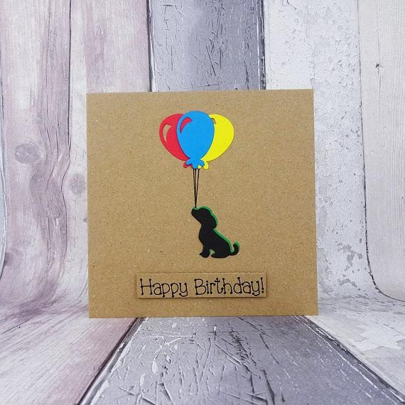 Puppy birthday card Spaniel puppy card Beagle or Labrador