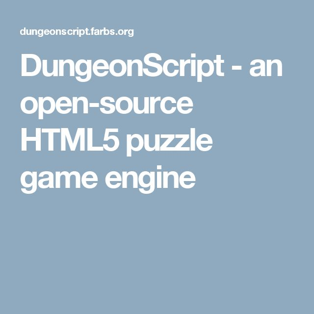 DungeonScript - an open-source HTML5 puzzle game engine