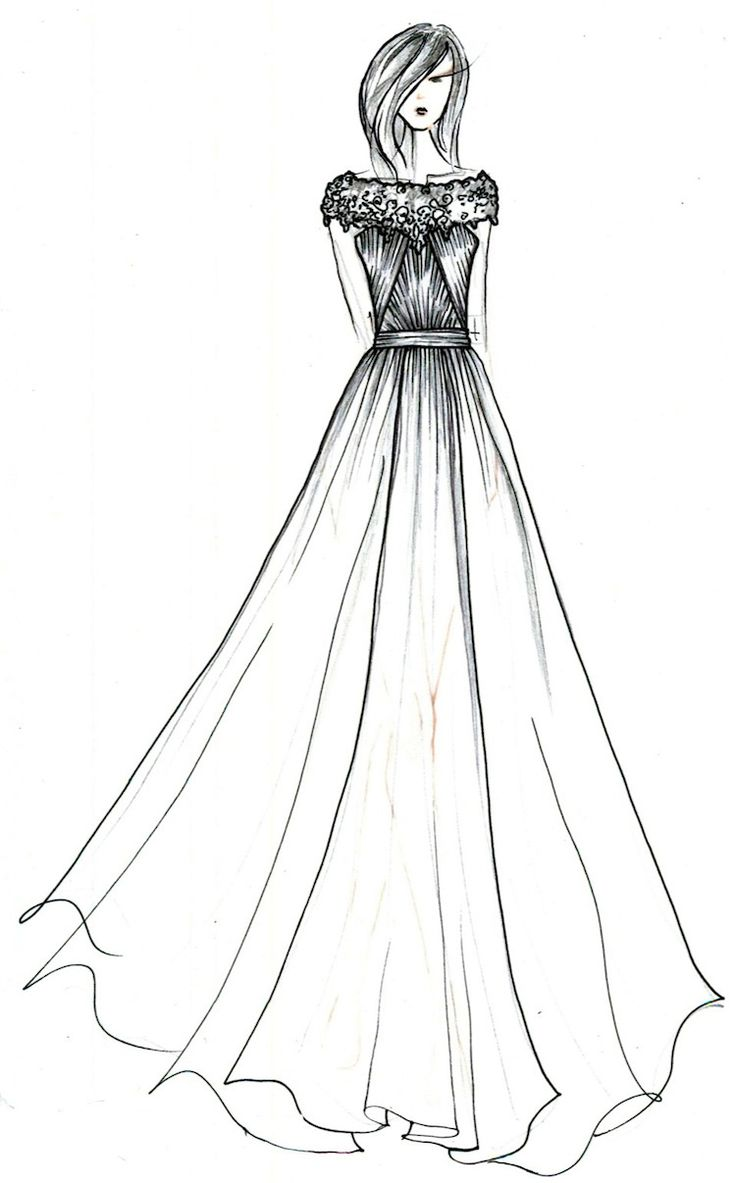 69 best Dress drawings images on Pinterest | Fashion drawings ...