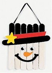 craft stick snow man