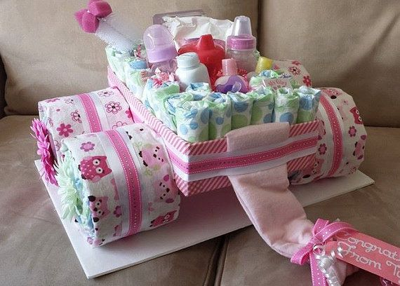 Wagon Diaper Cake Cakes Etsy And Diaper Cakes