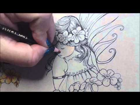 Video: Coloring Skin with Spectrum Noir Blendable Pencils - Spectrum Noir Coloring System from Crafter's Companion