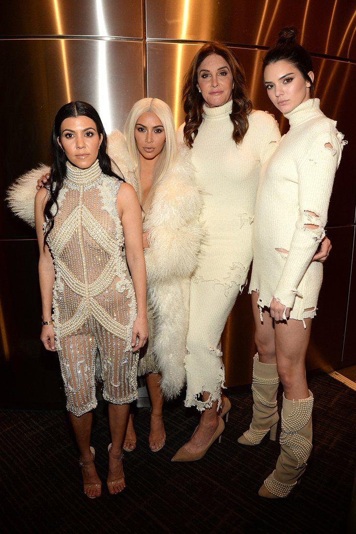 The Kardashians Wear All White to Make Sure Yeezy Season 3 Debuts Just Right