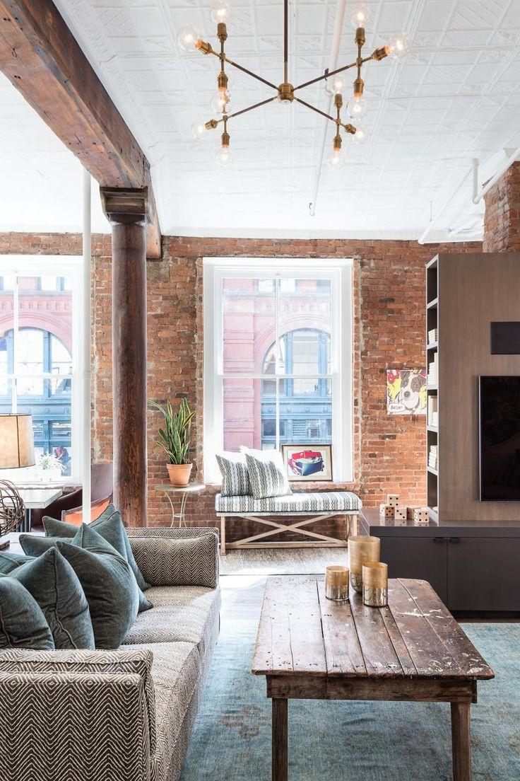 Best Soho Loft Ideas On Pinterest Industrial Loft Apartment - Contemporary soho loft with exposed brick and wood beams