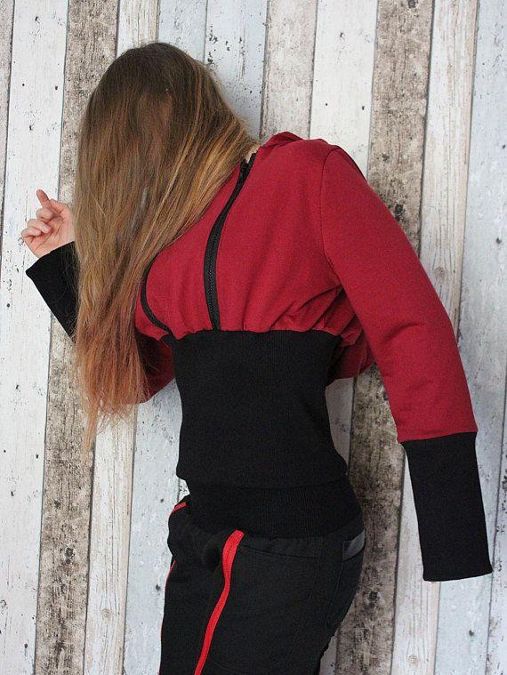 Rock Metal Women's Girl's Hoodie with zips – S/M – bio eco