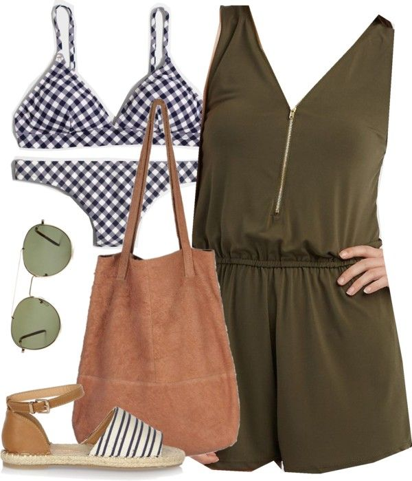 Spencer Hastings inspired pool day outfit by liarsstyle featuring a suede tote bag