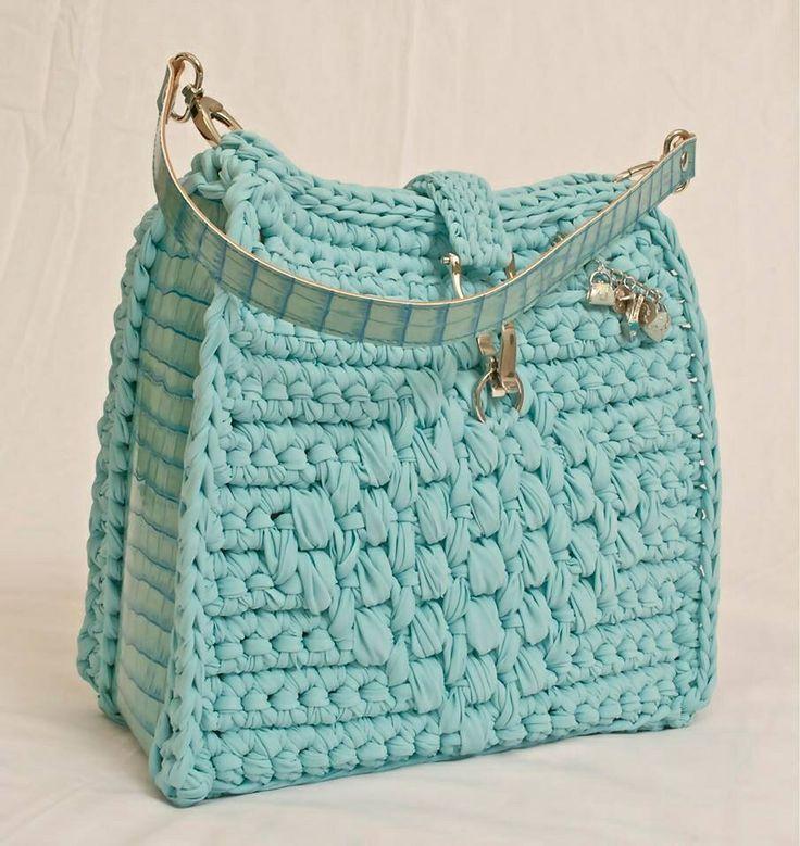 örgü mavi renk çanta - Kadın, Giyim, Moda, Sağlık,