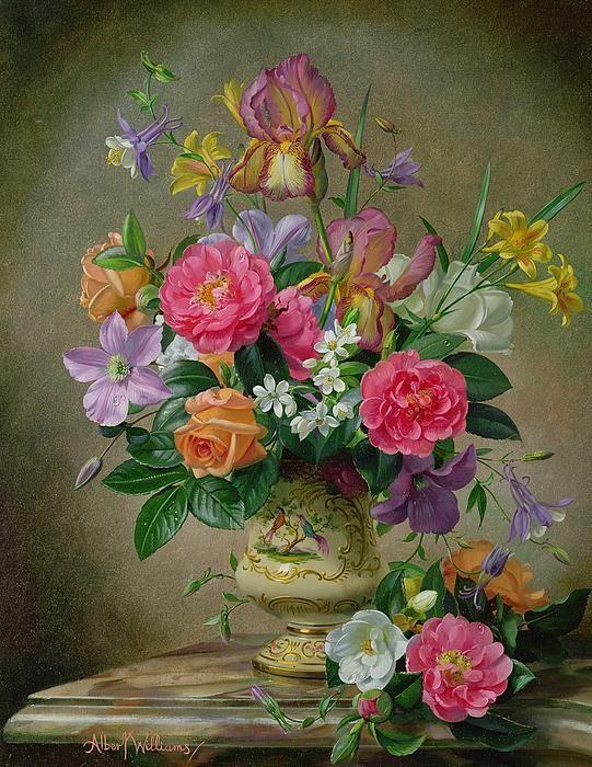 Букеты цветов в старинном стиле