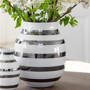 Omaggio H200 Vase Sølv