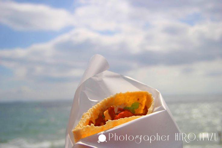 Kebab and sea and sky/ケバブと海と空