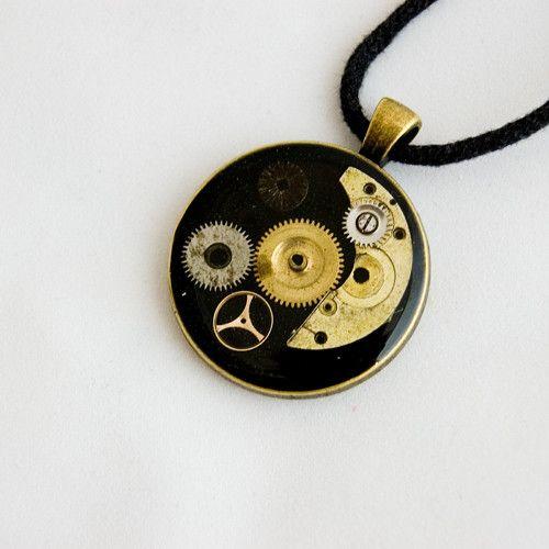 195 náhrdelník steampunk