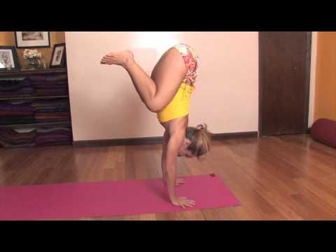 htto://www.kinoyoga.com  Learning handstands and arm balances is something that can be really challenging if it's not naturally easy for you. It certainly was an uphill struggle for me. One way that I found it easy to practice learning how to float in handstand or half-handstand position is in the sun salutation. When you jump forward from downwa...