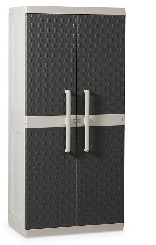 Toomax Rattan Line Xl Broom Cupboard 2 Doors 4 Shelves