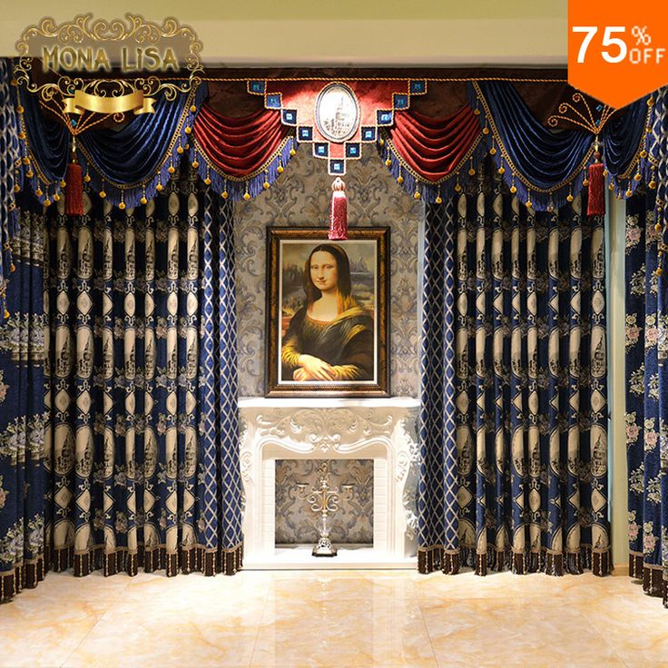 Find More Curtains Information about Ultimate Luxury curtains Italy Classic designer's living room Royal Blue restaurant hall Curtain MONA LISA Decoration for hotel,High Quality curtain cloth,China curtain decor Suppliers, Cheap curtain poles and tracks from Fashion Trend For You on http://www.aliexpress.com/store/product/Ultimate-Luxury-curtains-Italy-Classic-designer-s-living-room-Royal-Blue-restaurant-hall-Curtain-MONA-LISA/213632_32584515918.html