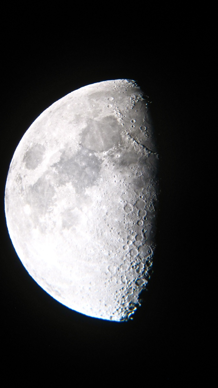 Moon shot through telescope - San Pedro de Atacama, #Chile  www.finisterra.ca #travel