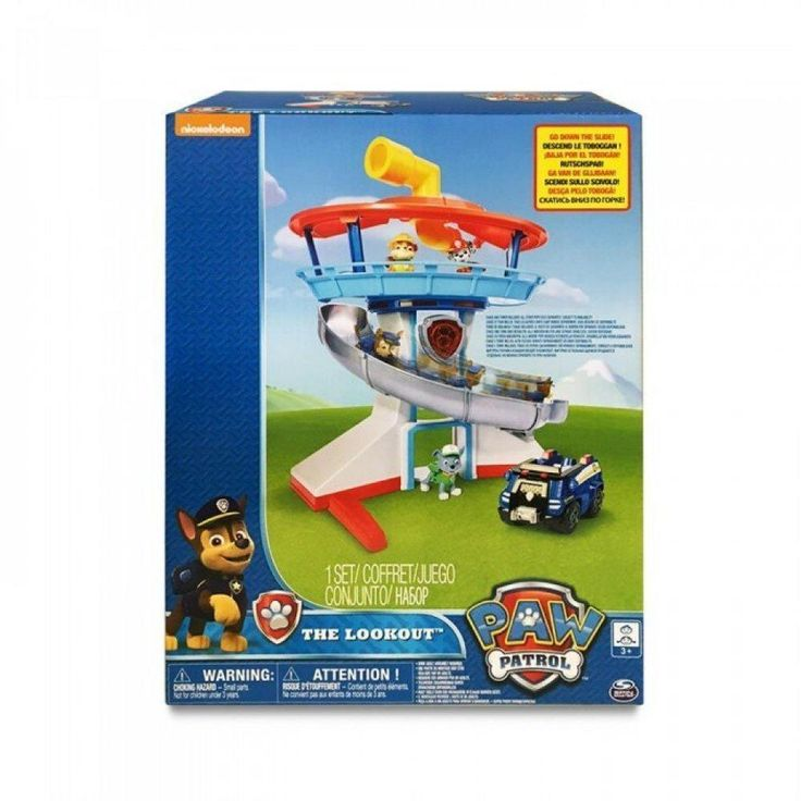 Paw Patrol The Lookout Playset with Chase