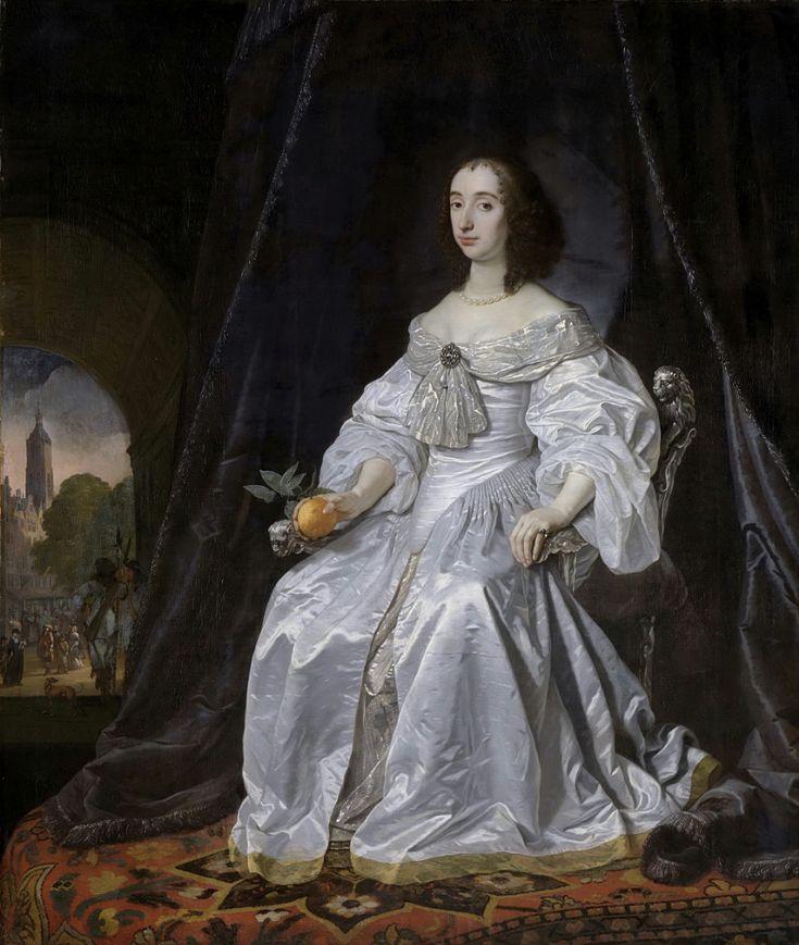 Helst, Bartholomeus van der -- Portret van prinses Maria Stuart (1631-60). Weduwe van Willem II, prins van Oranje, 1652
