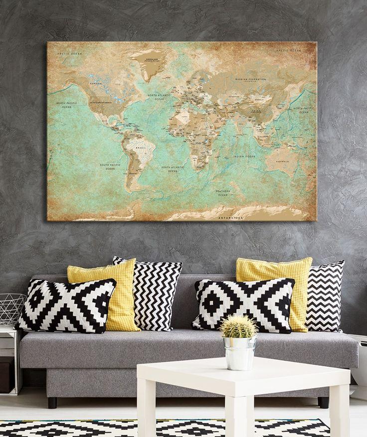 29 besten Weltkarten   World maps Bilder auf Pinterest - wandbilder wohnzimmer grun