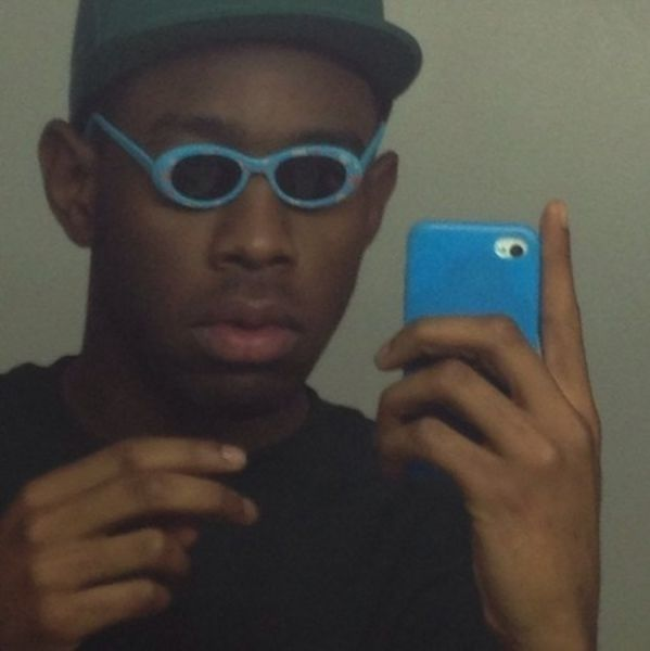 """The """"Tyler, The Creator and tiny sunglasses""""   26 Of The Most Legendary Celebrity Selfies Of All Time. Omgomg fuk mi bggst luv"""