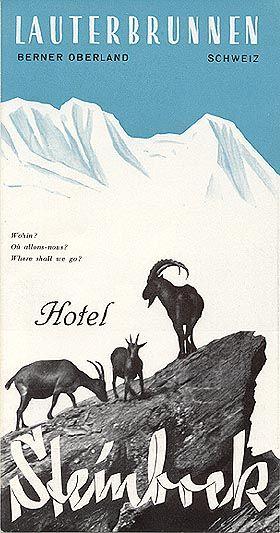 Hotel Steinbock, Lauterbrunnen, circa 1936
