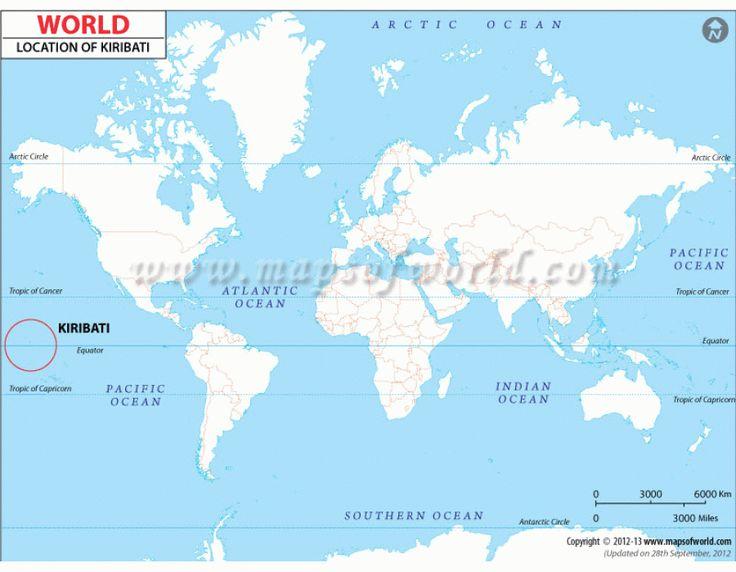 Buy Kiribati Location Map Online