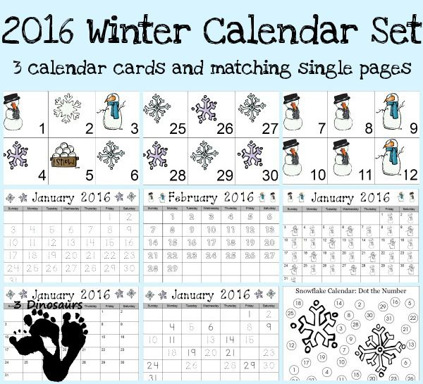 Free 2015 Winter Calendar Printable - 3Dinosaurs.com (scheduled via http://www.tailwindapp.com?utm_source=pinterest&utm_medium=twpin&utm_content=post23748914&utm_campaign=scheduler_attribution)