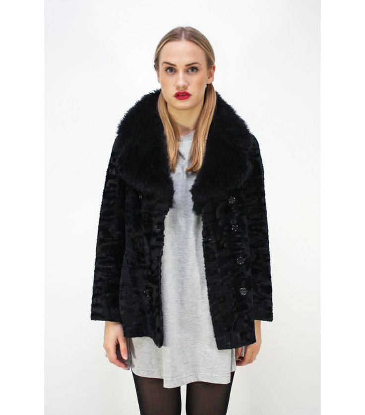 Black Faux Fur Coat (Sold Out)