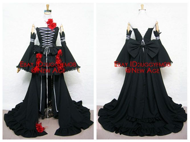 Pandora Hearts Intention Of The Abyss / Alice Cosplay Costume (Black) Outfit #Unbranded