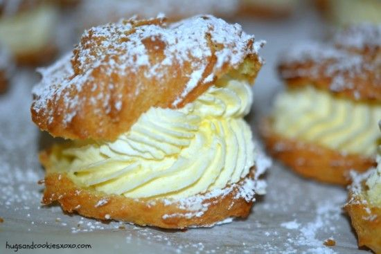 If you're looking for a fast and delicious dessert to feed a crowd, this is it! The recipe makes about 16 Cream Puffs with generous amounts of filling. According to the Blogger this filling recipe is the BEST and it's easily made from Cream, Milk and Vanilla Pudding Mix.