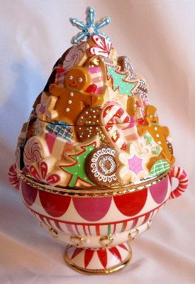 *GLITTERVILLE LARGE Collectible ~ Cookie Jar, Waterford cookie jars, Department 56