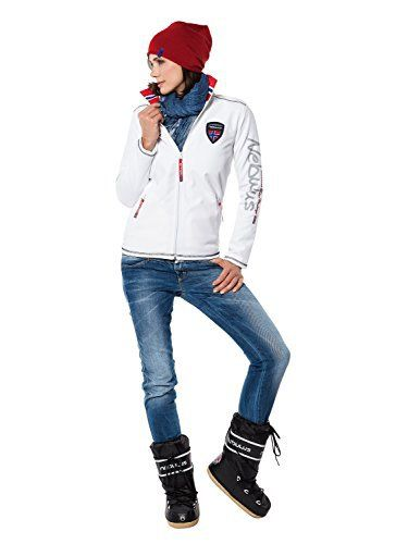 Nebulus Styler Veste polaire Femme Blanc FR : L (Taille Fabricant : L): Tweet