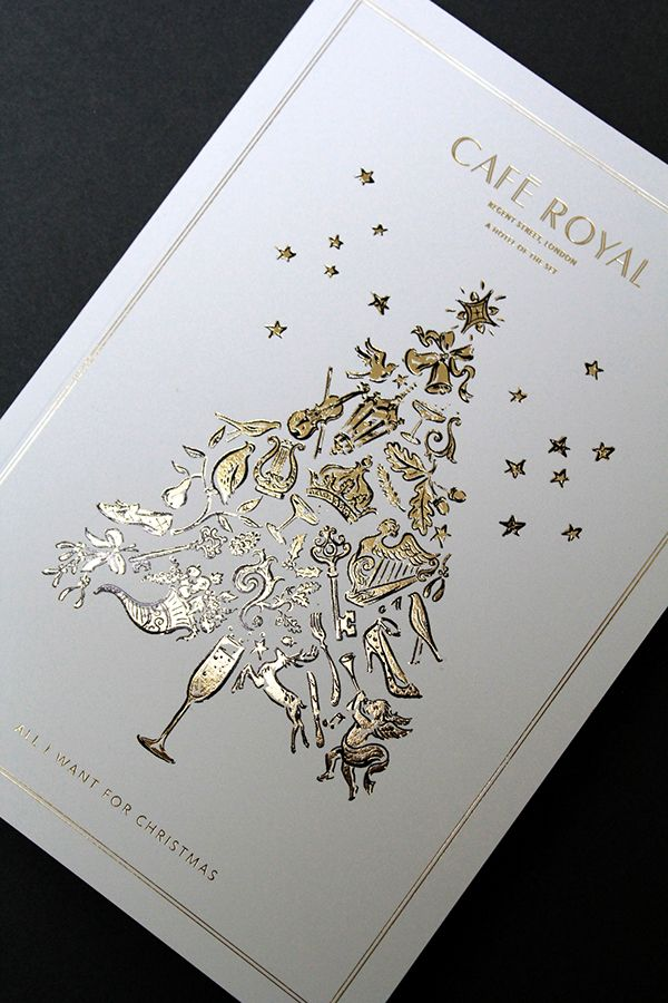 Hotel Cafe Royal Christmas Brochure on Behance