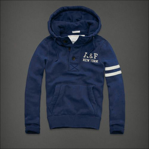 Abercrombie & Fitch Mens Hoodies Blue Online