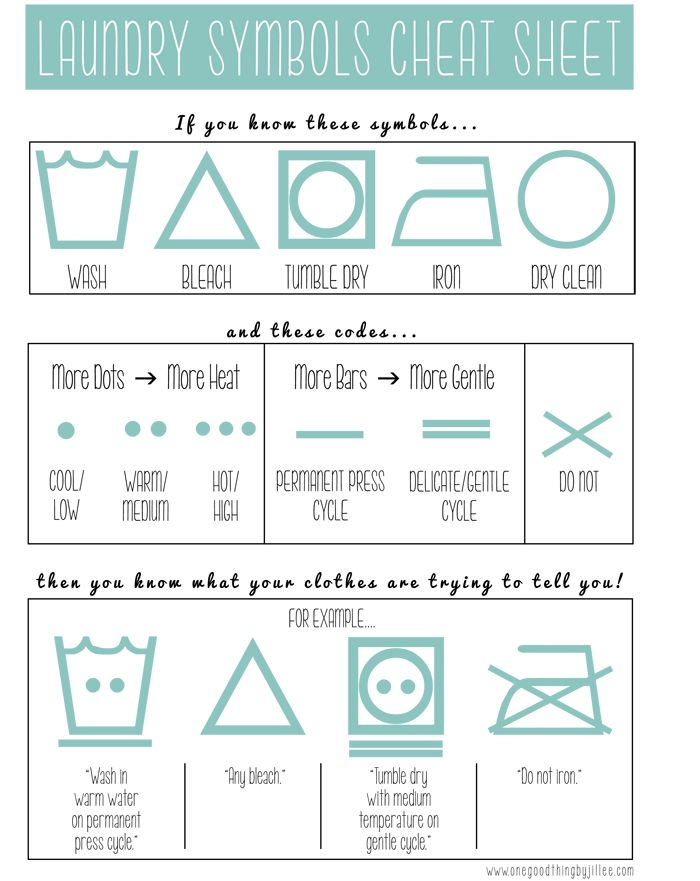 Laundry Symbols Cheat Sheet - but this website has cheat sheets for