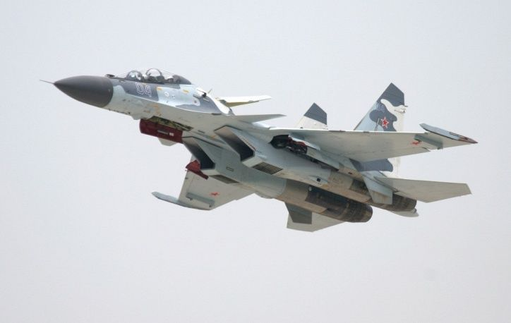 The Sukhoi Su-30 is a two-seat multirole fighter. The Su-30 started out as an internal development project in the Sukhoi Su-27 family