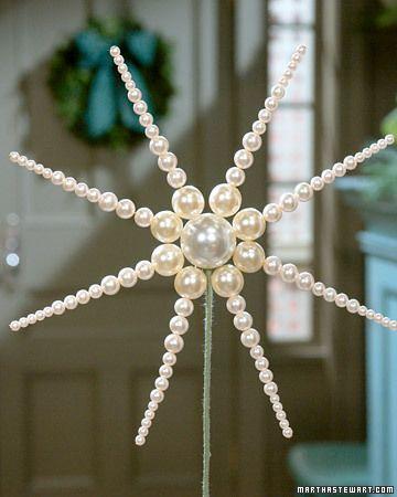 DIY ~ Pearl Tree Topper or ornament