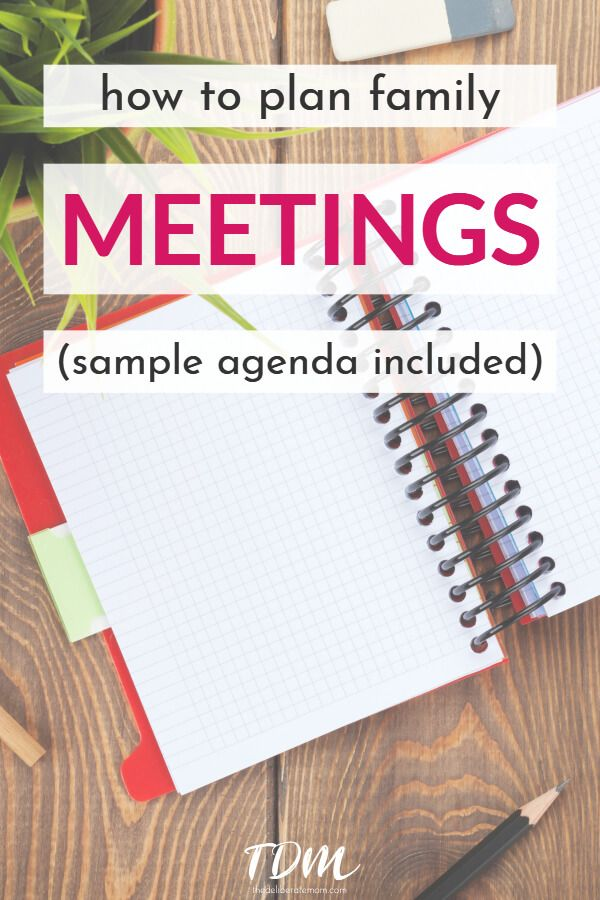 Family Meetings - sample agenda
