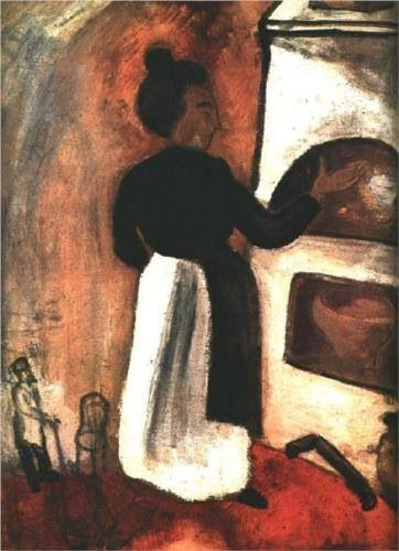 """Marc Chagall, """"Mother by the oven, 1914"""" #art #artists #chagall"""